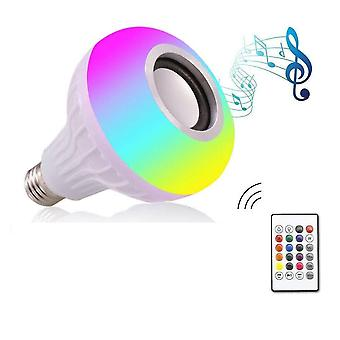 12w Smart Led Lamp met Bluetooth speaker, Rgb Light met 24 toetsen afstandsbediening