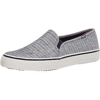Keds Women's Double Decker Chambray Stripe Linen Sneaker