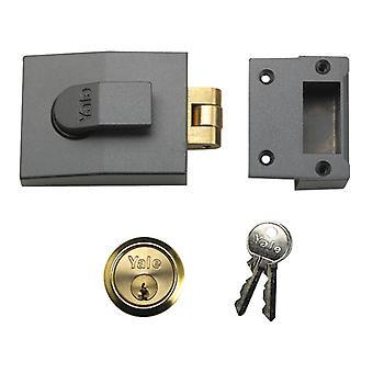 Yale Locks 81 Rollerbolt Nightlatch 60mm Backset DMG Finish Box YAL81DMGPB