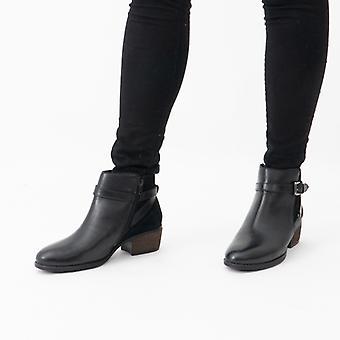 لوتس داني السيدات الجلود الكاحل أحذية الأسود