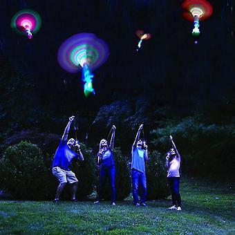 Libellula di bambù con tiro leggero, volo a razzo, giocattolo da gioco notturno all'aperto Sky