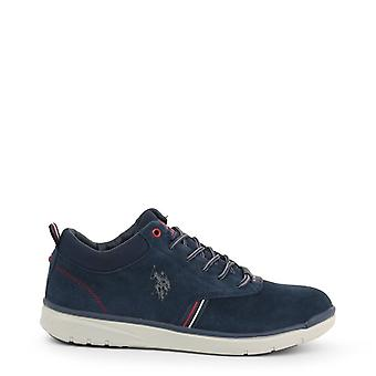 Us polo assn. 4125w9 men's fabric suede laced shoes