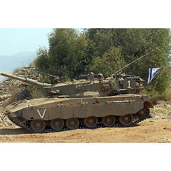 Die Kampfpanzer Merkava Markierung III-D von der Israel Defense Force Poster Print
