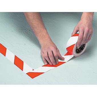 Everbuild Mammoth Hazard Tape Rojo/Blanco 50mm x 33m 2HAZRD