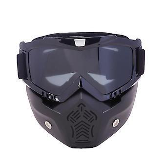 Herren & Damen Ski Snowboard Maske Skibrille, Winddichte Motocross Protective