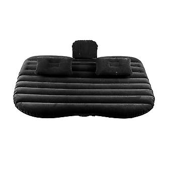 Black Inflatable Car Air Bed Mattress Back Seat Cushion For Traveling