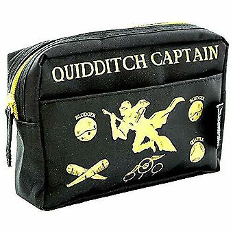 Blue Sky Designs Ltd Harry Potter Quidditch Multi Pocket Pencil Case - Black/gold