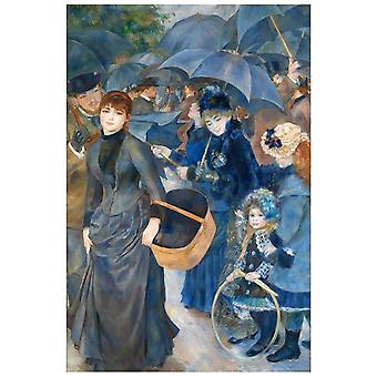 Kunstdruck auf Leinwand - Die Regenschirme Pierre Auguste Renoir - Wanddeko, Canvas