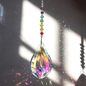 Sun Catcher Feng Shui Crystals Window Drop Prism Home Decoration (azul)