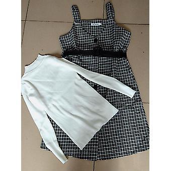 לבוש רחוב שני חלקים שמלה סתיו חורף סוודר צמר שמלות באורך הברך עם