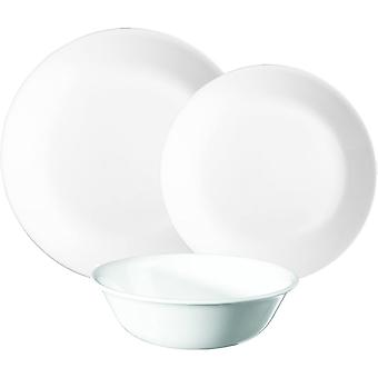 Corelle 2-Piece Winter Frost Chip and Break Resistant Dinner Set, White