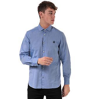 Homme's Henri Lloyd Cotton Popeline Regular Fit Shirt en Bleu