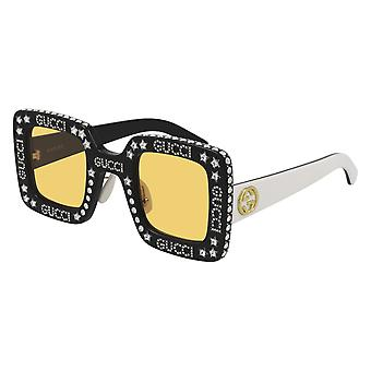 Gucci GG0780S 008 Black/Yellow Sunglasses