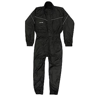BikeTek One Piece Black Rainsuit
