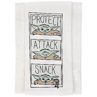 Star Wars The Mandalorian The Child Protect Attack Snack Kitchen Towel