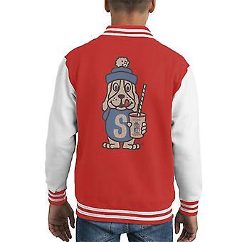 Slush Puppie Distressed 70's Logo Art Kid's Varsity Jacket