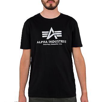 Alpha Industries Herren T-Shirt Basic Reflective Print