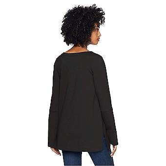Daily Ritual Women's Terry Cotton and Modal Square-Sleeve Sweatshirt, noir, ...