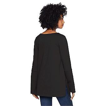 Daily Ritual Women&s Terry Cotton i modal square-sleeve Bluza, czarny, ...