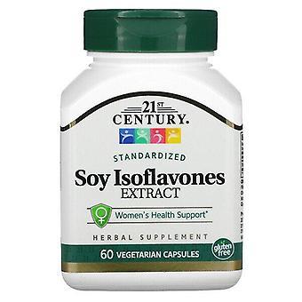 Siglo XXI, Extracto de Isoflavonas de Soja, Estandarizado, 60 Cápsulas Vegetarianas