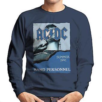 AC/DC Summer 1991 Band Personnel Men's Sweatshirt