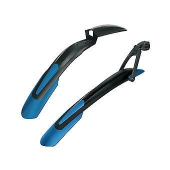 """SKS SHOCKBLADE + X-BLADE MTB Bicycle Plug-in Plate (Set) // 27.5""""+/29"""" blue"""