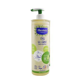 Gel limpiador orgánico Mustela con aceite de oliva - Sin fragancia 400ml/15.32oz