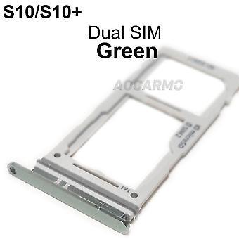 Enkele dual metal plastic nano sim-kaart lade socket reparatie onderdelen voor Samsung