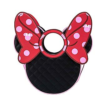 Loungefly Crossbody Bag Minnie Mouse Quilted Bow Head ny officiell svart
