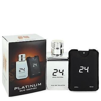24 Platinum Oud Edition Eau De Toilette Concentree Spray  + 0.8 oz {Pocket Spray (Unisex) By Scentstory 3.4 oz Eau De Toilette Concentree Spray  + 0.8 oz {Pocket Spray