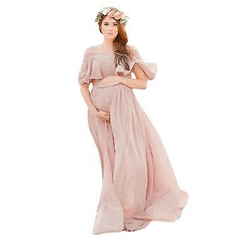 Maternity Photo Shoot Chiffon Pregnancy Dress Photography Props Maxi