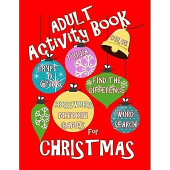 Adult Activity Book Christmas Activity Book for Adults [Large Print]