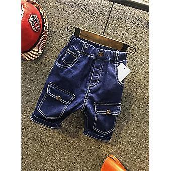 Bolsos Buraco Rasgado Shorts Casuais