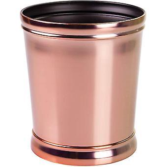mDesign Waste Bin - Ideal as a Waste Paper Bin or Bedroom Bin - for Kitchen, Bathroom and Office