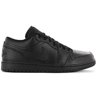 Nike AIR JORDAN 1 Low - Sapatos Masculinos All-Black 553558-091 Tênis Tênis Sapatos Esportivos