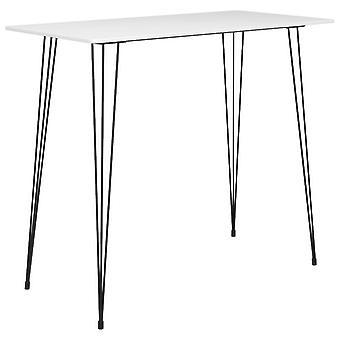 Bar Table White 120x60x105 Cm
