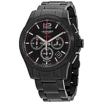 Longines Conquest V.H.P. Perpetual Chronograph Quartz Black Dial Men's Watch L3.717.2.56.6