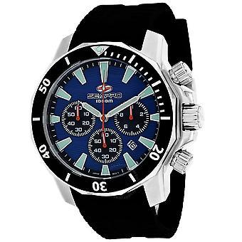 Seapro Scuba Dragon Diver Limited Edition 1000 Meters Chronograph Quartz Blue Dial Men's Watch SP8344R