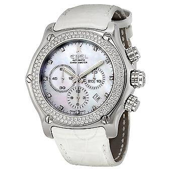 Ebel 1911 Mother of Pearl Dial Diamond Automatic Unisex Watch 9137l75-9930101