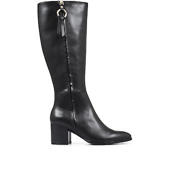 Regarde Le Ciel Womens Taylor-16 Block Heel Knee High Boots