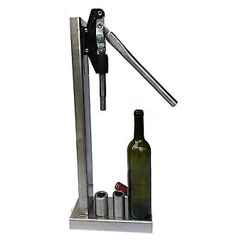 Manual Bottle Cork Pressing Machine With 2 Pom Stainless Steel Heads