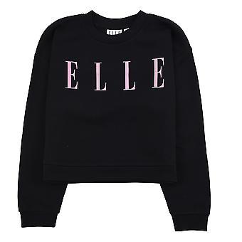 Elle Jugend Mädchen Kinder übergroßen Reißverschluss Langarm Sweatshirt Pullover schwarz/rosa