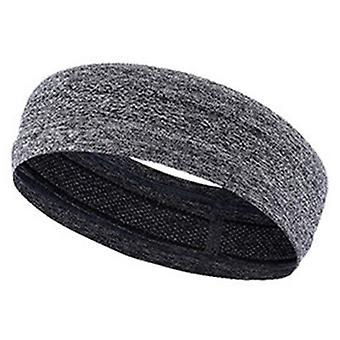 SPORX Fabric Loop Headband Sweatband Bandana Gray