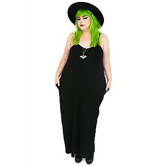 Foxblood Raven Strappy Maxi Dress