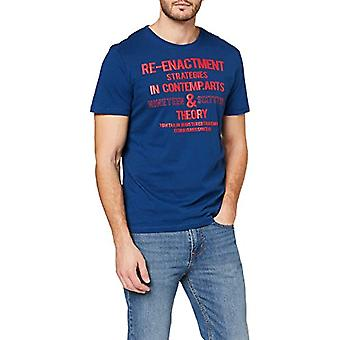 Tom Tailor Print T-Shirt, After Dark Blue, S Man