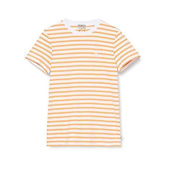 Tom Tailor Streifen T-Shirt, 23332/Summer Peach Yarn Dy, L Homme