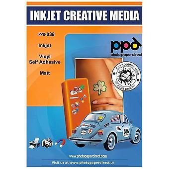 FengChun A4 x 20 Blatt Inkjet PREMIUM Vinyl Aufkleberfolie Weiß Matt Selbstklebend - Speziell