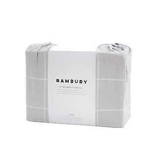 Bambury Carrington Silver Flannelette Sheet Set