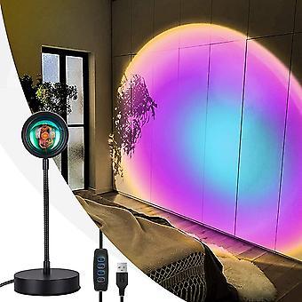 LED Indoor Romantic Sunset Projection Lamp (Rainbow)
