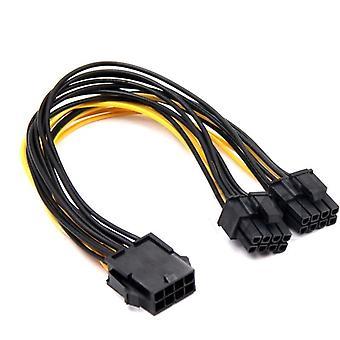 8 tűs dual 8 (6+2) tűs PCI expressz áramátalakító kábel